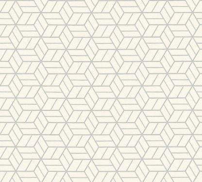 Tapet alb cu modele geometrice