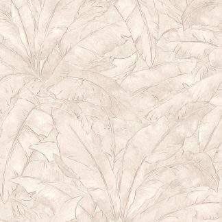 Tapet cu frunze nude și linii metalice
