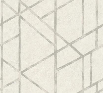 Tapet alb cu linie metalică strălucitoare