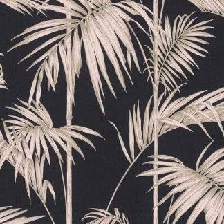 Tapet frunze palmier albe