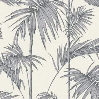 Tapet frunze palmier gri