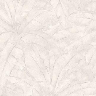 Tapet cu frunze gri deschis și linii metalice argintii