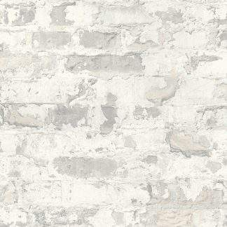 Tapet cărămidă perete gri deschis
