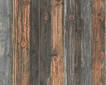 Tapet motiv lemn gri cu maro